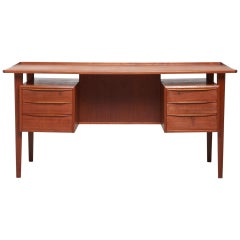 Teak Desk by Danish Designer Peter Løvig Nielsen, 1960s