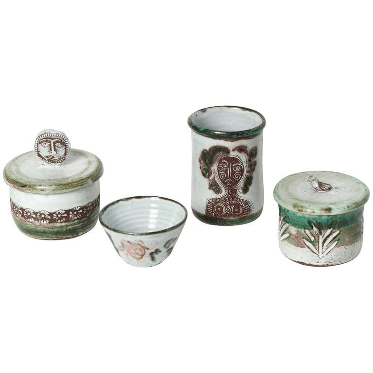 Albert Thiry Ceramic Set Vallauris, 1950 For Sale