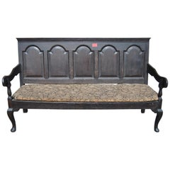 18th Century English Oak Settle or Bench