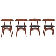 Set of Four CH 33 by Hans J. Wegner