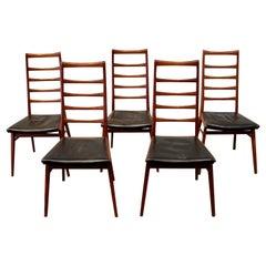 5 Teak Chairs in the Style of Niels Koefoed