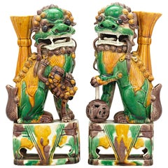 Qing Dynasty Chinese Foo Dog Totems