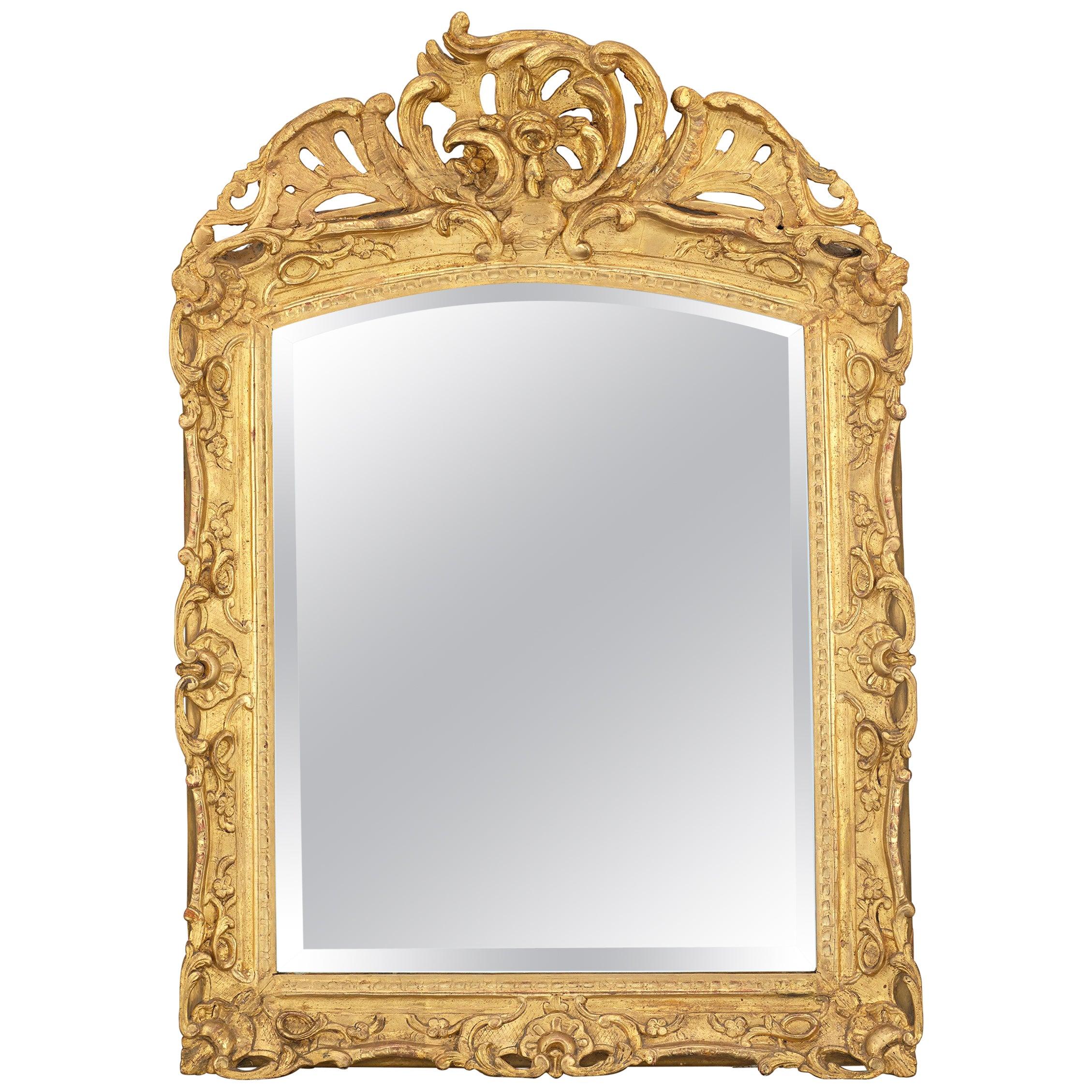 Louis XV Period Gilt Mirror