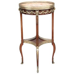 19th Century Mahogany and Brass Occasional Table