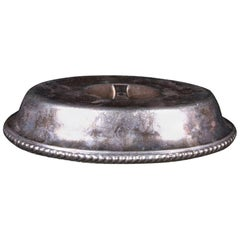Gorham Silver Soldered Oval Cover with Carlyle Hotel Logo, circa 1930