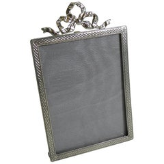 Pretty English Sterling Silver Photograph Frame, 1920