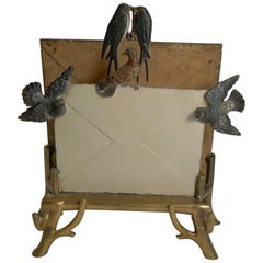 Rare Cold Painted Vienna Bronze Letter Rack or Holder, circa 1890