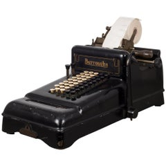 Early 20th Century Antique Burroughs Adding Machine, circa 1910