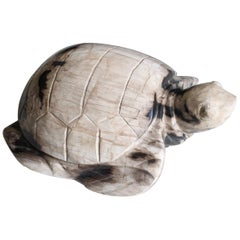 Petrified Wood Turtle Sculpture