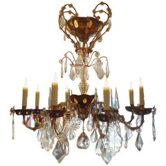 Maison Bagués Style Eight-Light Crystal Chandelier