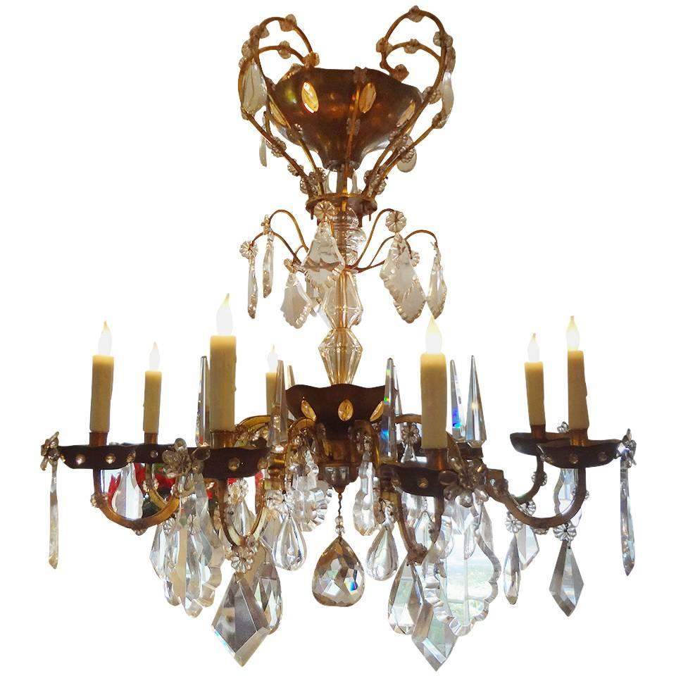 Maison Bagues Eight Light Crystal Chandelier For Sale At 1stdibs