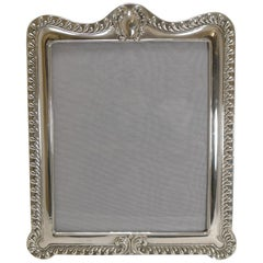 Grand Large English Sterling Silver Photograph Frame, 1903