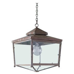 Large Square Copper Lantern