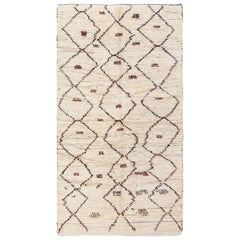 Vintage Small Size Moroccan Rug