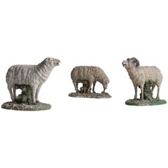 Plaster Sculpture of Sheep, circa 1950