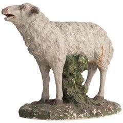 Plaster Sculpture of Sheep, circa 1950
