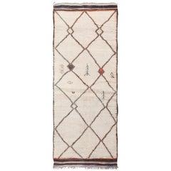 Vintage Wide Hallway Moroccan Rug