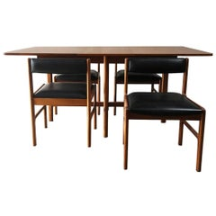 1970s Midcentury Extending Dining Table and Chair Set by McIntosh