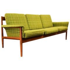 Vintage Grete Jalk Teak Three-Seat Sofa