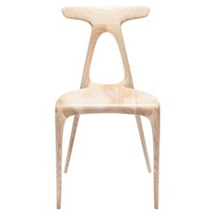 'Alpha' Solid Oak Stackable Contemporary Dining Chair - In Stock