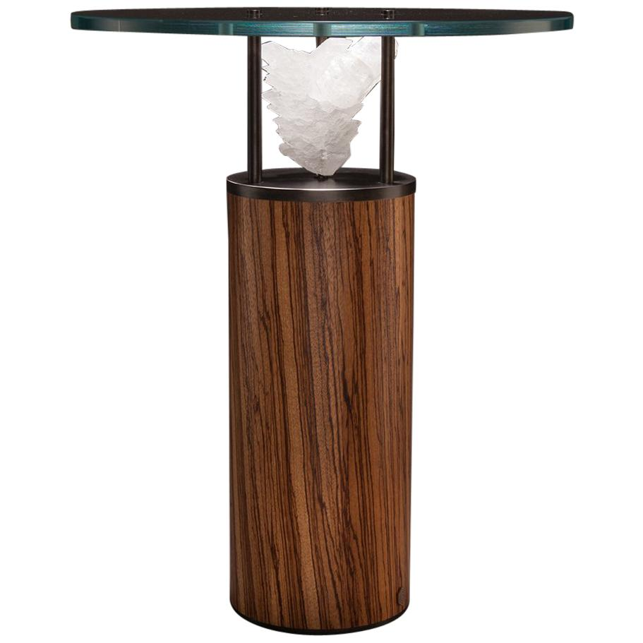 Studio Greytak U0027Peekaboo Table 7u0027 Gypsum, Iron And Zebrawood Occasional  Table