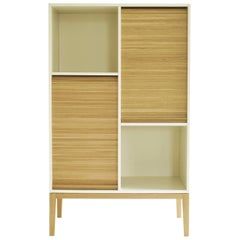 Tapparelle M by Colé, Minimal Cabinet Inspired by Tradition