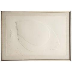 "Omar Rayo, Embossed Print, ""Dove XII,"" Edition 6/25"