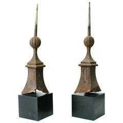 Pair of 19th Century Architectural Finials Off a Building