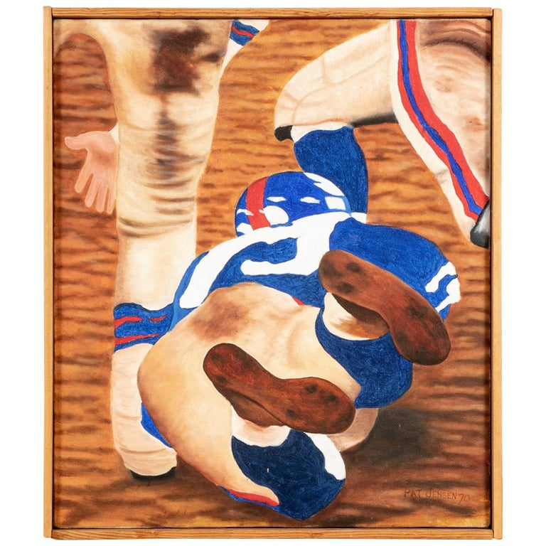 "Pat Jensen, American, Oil On Canvas, ""Mud Game"" For Sale"