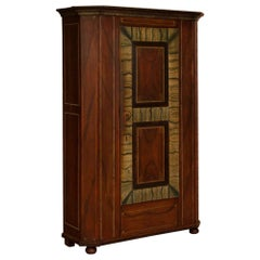 Antique German Single Door Armoire with Original Paint