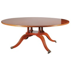 Large Round Mahogany Dining or Center Table