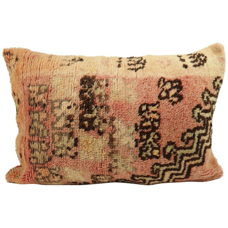 Moroccan Pillow Bohemian Berber Cushion from Morocco 2 For Sale