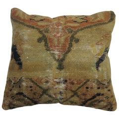 Shabby Chic Antique Persian Mahal Rug Pillow