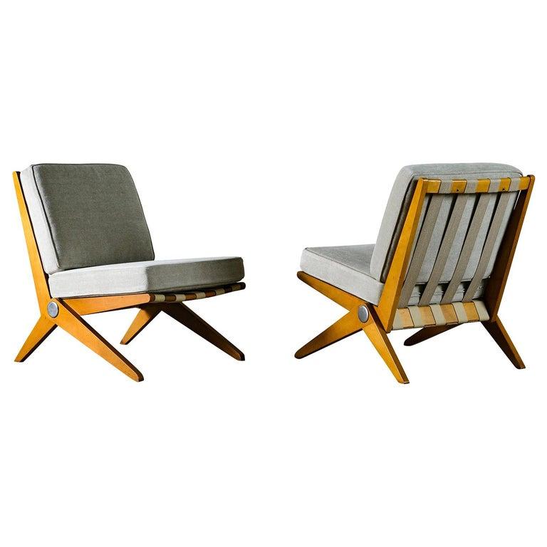 Pierre Jeanneret Scissor Chairs