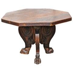 Italian Baroque Renaissance Walnut Centre Table