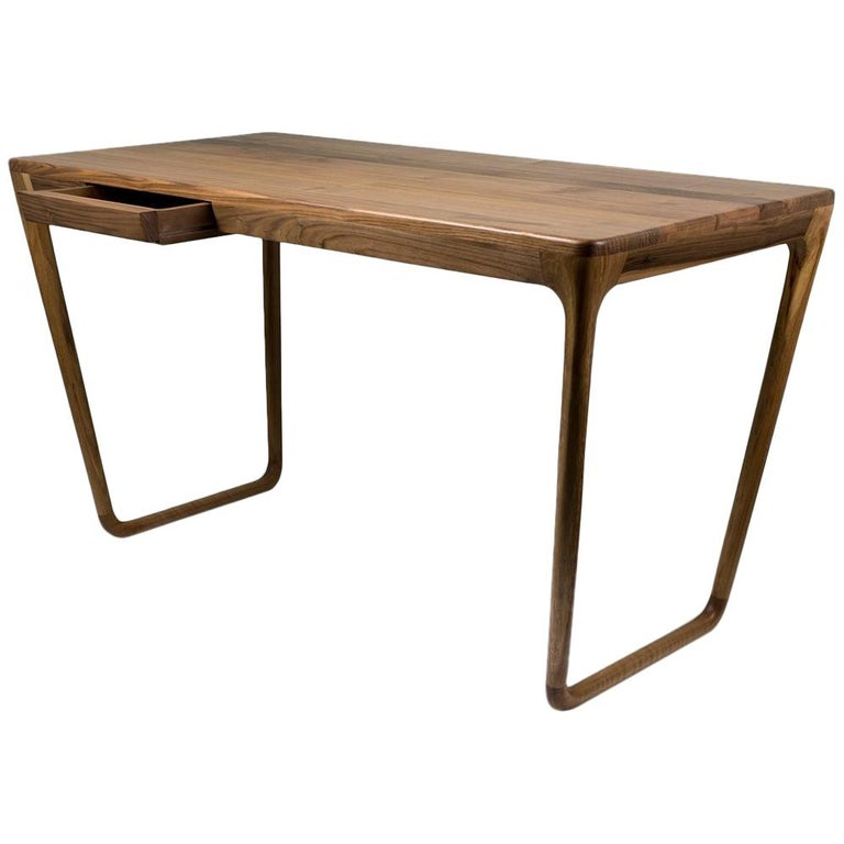 Belenus Workshop Desk, Contemporary Desk in Walnut