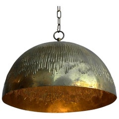 Rare Copper Svend Aage Holm Sorensen Pendant Lamp for Holm Sorensen and Company