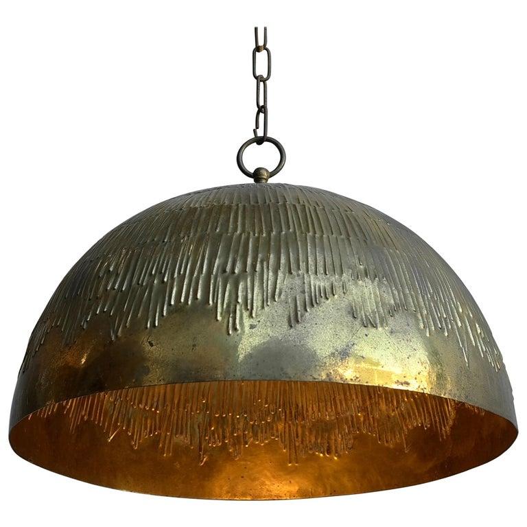 Rare Copper Svend Aage Holm Sorensen Pendant Lamp for Holm Sorensen and Company