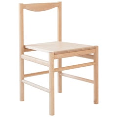 Wood Range Dining Chair in Hard Maple by Fort Standard, in Stock