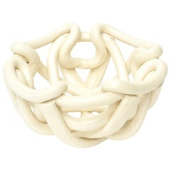 Vintage Twisted Coiled Ceramic Sculptural Bowl