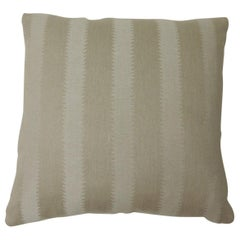 "Heavy Linen Jacquard ""Zig-Zag"" Decorative Pillow Two-Sided"