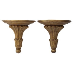 Pair of Large Giltwood Brackets