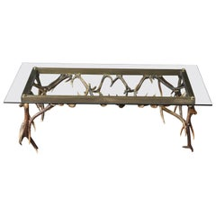Antler and Brass Coffee Table Attributed to Anthony Redmile, circa 1970s