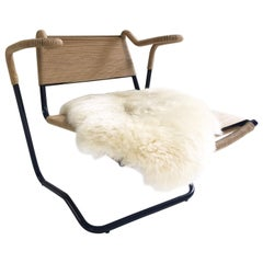 Dan Johnson for California Living Model 2750 Lounge Chair with Sheepskin