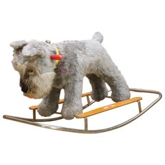 Blue Terrier Dog Childs Rocking Chair Giocattoli Trudi Italy Rocker Toy MCM Isle