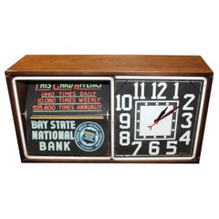 1950s Action Ad Electric Neon Rotating Advertising Clock