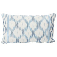Schumacher Mark D. Sikes Santa Monica Ikat Indigo Blue Lumbar Pillow