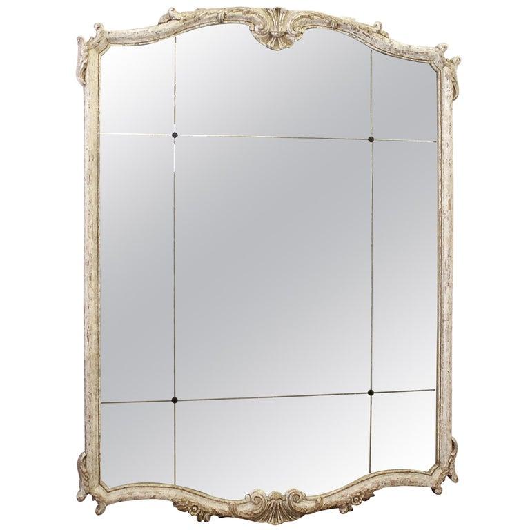 Vintage Decorative Mirror in Wood Frame