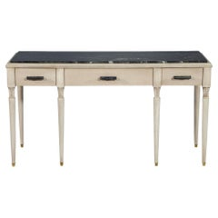 Classic French Inspired Marble-Top Console Hall Table