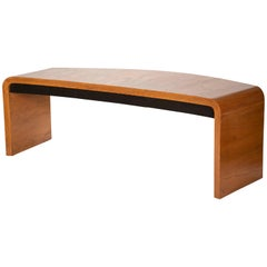 Large Vladimir Kagan Crescent Desk in Oak